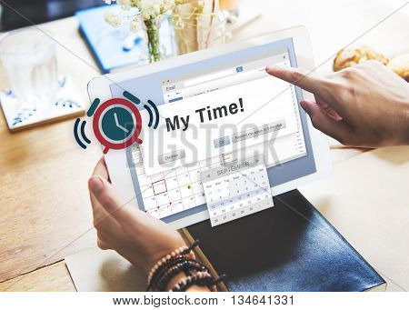 My Time Action Goal Inspiration Minute Success Concept