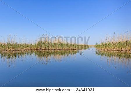 beautiful landscape in the Danube Delta Romania