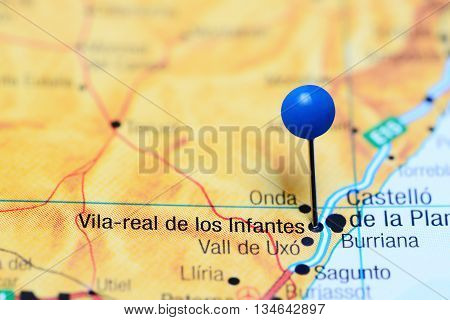 Vila-real pinned on a map of Spain