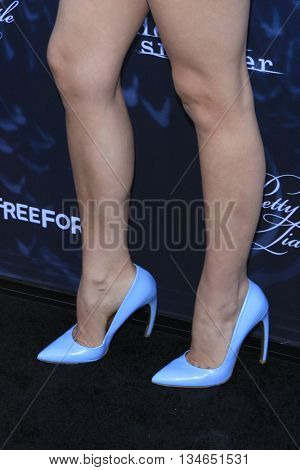 LOS ANGELES - JUN 15:  Tammin Sursok at the Pretty Little Liars Seaon 7 Premiere and Dead of Summer Premeire at the Hollywood Forever Cemetary on June 15, 2016 in Los Angeles, CA