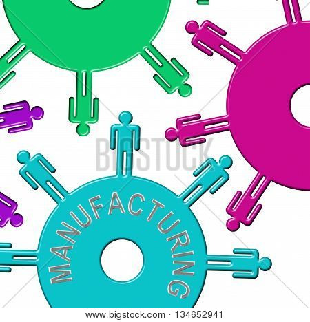 Manufacturing Cogs Indicates Industry Cogwheel And Clockwork
