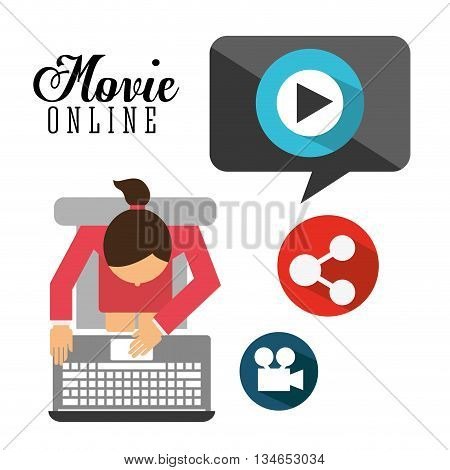 movie online design, vector illustration eps10 graphic