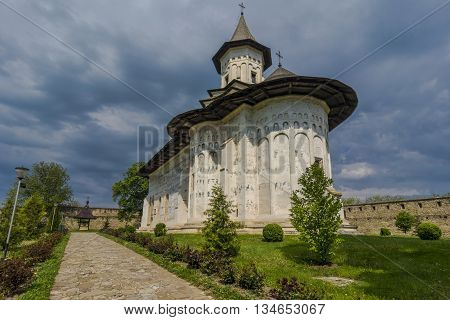 Probota Monastery, dedicated to Saint Nicholas, is a orthodox church in Probota village, Dolhasca town, Suceava, Romania. It was built in 1530, by Peter IV Rares.