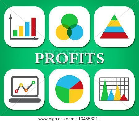 Profits Charts Represents Business Graph And Statistic