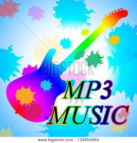 Mp3 Music Shows Melody Listening And Sound Track
