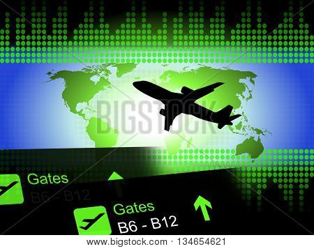 World Flight Shows Departure Aviation And Fly