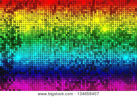 Colorful background (texture) mosaic with light spots