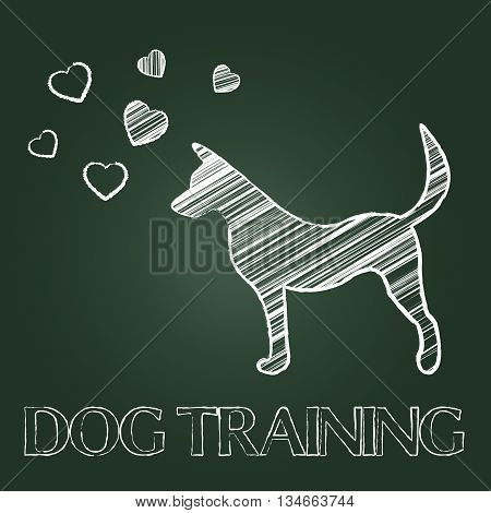 Dog Training Indicates Pets Puppy And Pups