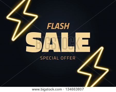 Vector flash sale vector illustration background in retro style