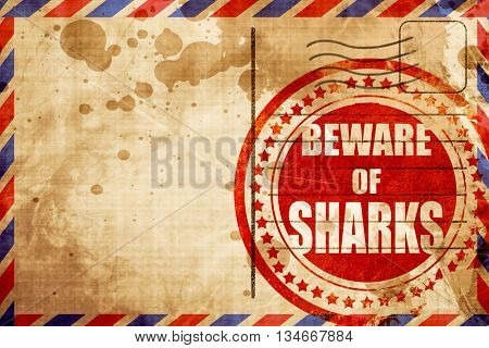 Beware of sharks sign