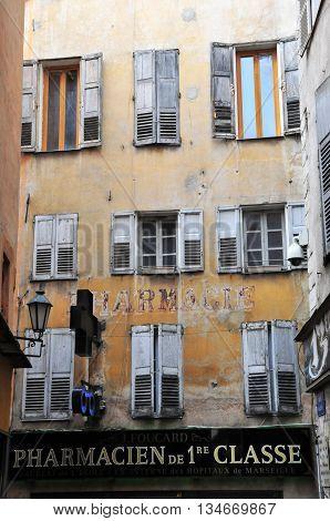 Grasse France - april 17 2016 : the touristy city center