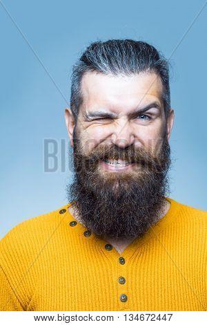 Bearded Emotional Man