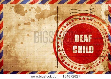 Deaf child sign