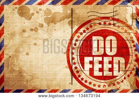 do feed