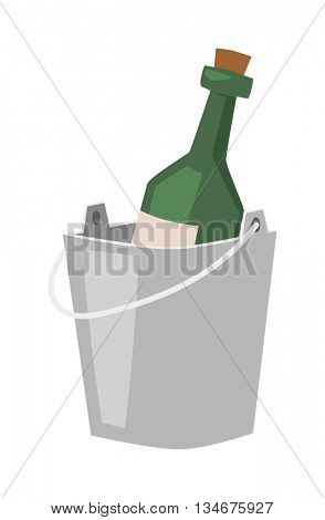 champagne bucket vector illustration.