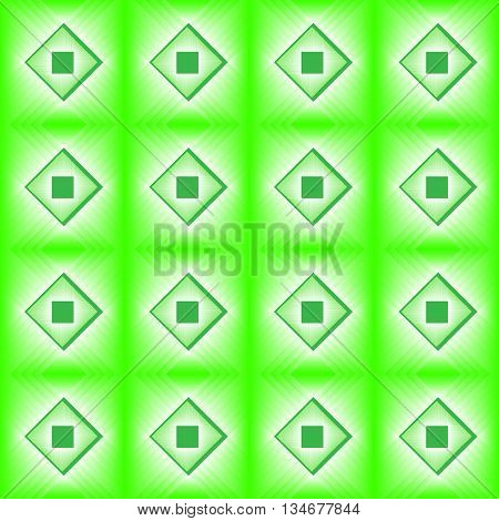 Tiles made of green diamond. Lime white pattern of lozenges for texture or background in the kitchen.