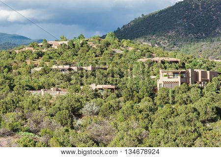 Residential Buildings Around St. John's College In Santa Fe, New  Mexico