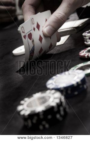 Tarjetas y fichas de juego