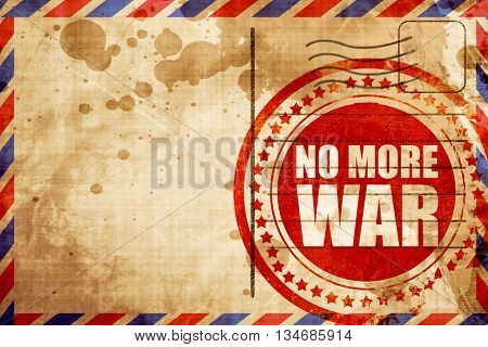 no more war