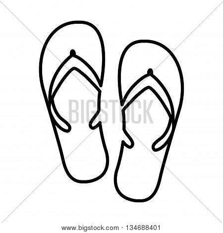 flip flops isolated icon design, vector illustration eps10 graphic