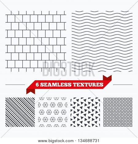 Diagonal lines, waves and geometry design. Mosaics square tiles lines texture. Stripped geometric seamless pattern. Modern repeating stylish texture. Material patterns.