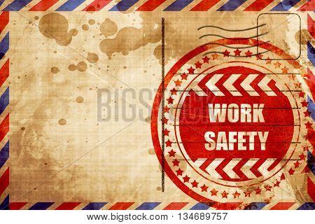 Work safety sign