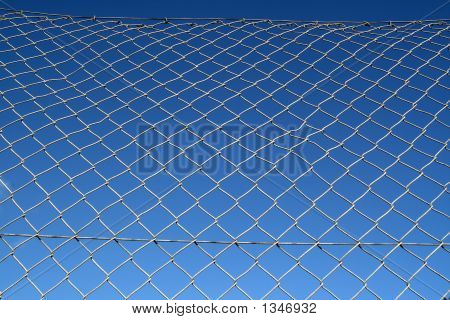 Old Metal Chain Link Security Fence
