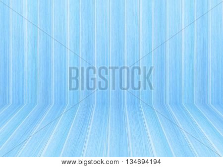 Perspective lines of light blue wooden floor stock photo