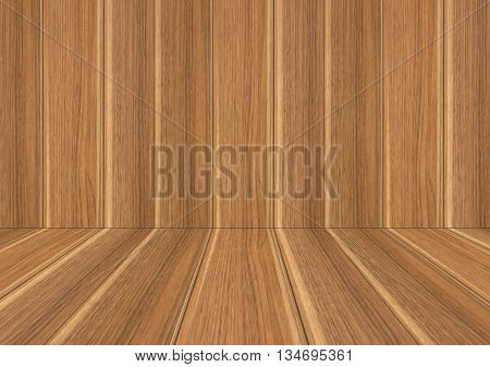 Perspective lines of wood sepia background stock photo