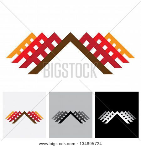 House ( Home ) & Office Vector Logo Icon For Real-estate Industry