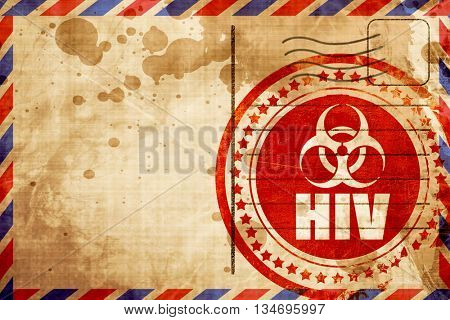 Aids virus concept background