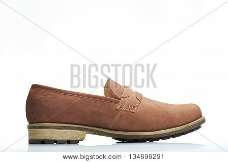Side Light Brown Shoe