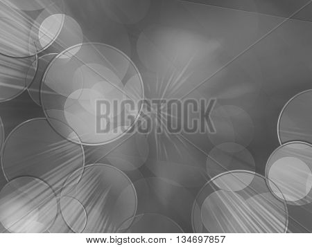 Abstract grey and white background speed effect bokeh lights