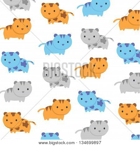 Cat kitty background and tecture vector color template