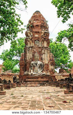 Old Buddha Ayutthaya Thailand Southeast Asia Travel Concept