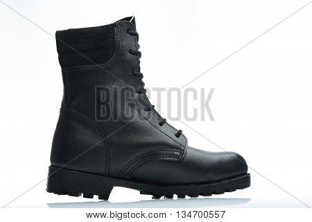 Black Men Leather Boot