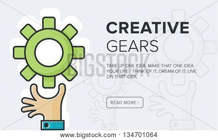 Creative Gears banner // illustration