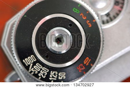 Picture of a Vintage photo camera details