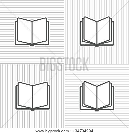 Book icons on stripped background for education and traning