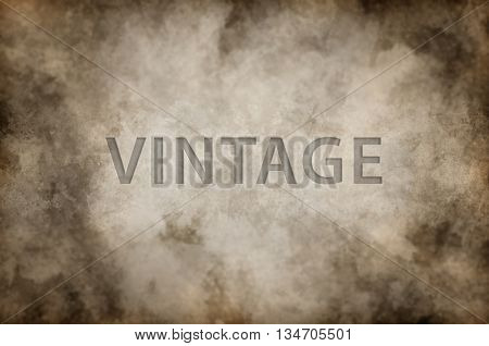 Full frame sepia colored or brown background with vintage placeholder text copy space in the middle