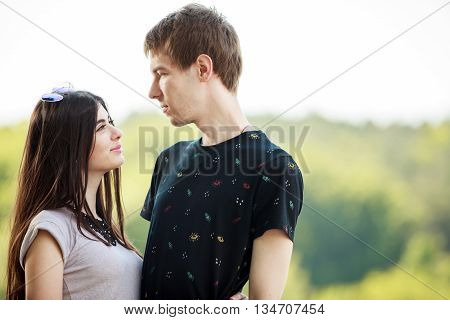 Inlove Couple Looking At Each Other