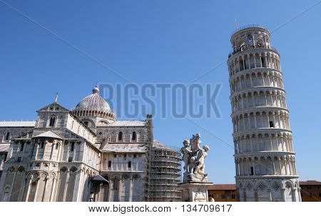 PISA, ITALY - JUNE 06, 2015: Cathedral St. Mary of the Assumption in the Piazza dei Miracoli in Pisa, Italy. Unesco World Heritage Site, on June 06, 2015