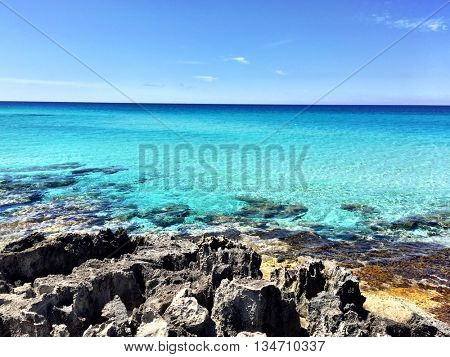 Awesome sea view of Formentera Beach in Spain