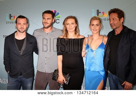 LOS ANGELES - JUN 16:  Aquarius Cast, Gethin Anthony, Grey Damon, Michaela McManus, Claire Holt, David Duchovny at the Aquarius  S2 Premiere at Paley Center on June 16, 2016 in Beverly Hills, CA