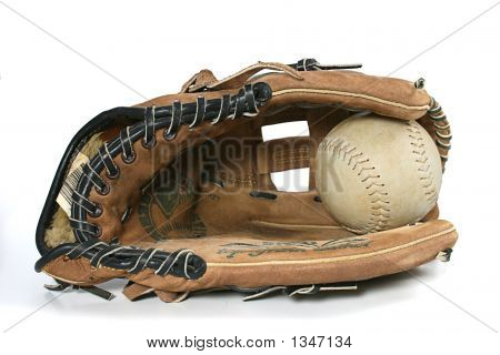 Softball / Baseball-Handschuh und Ball
