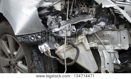 Crashed Car From Traffic Accident