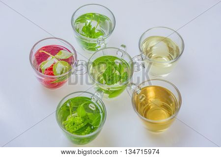 colorful natural herbal teas.nature herbal teas for health.