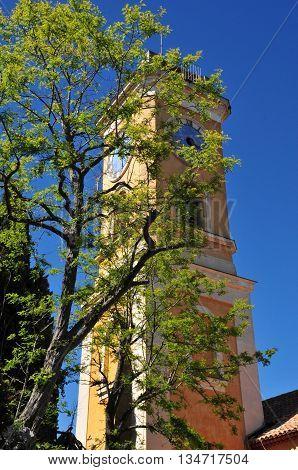 Eze France - april 19 2016 : the Notre Dame church