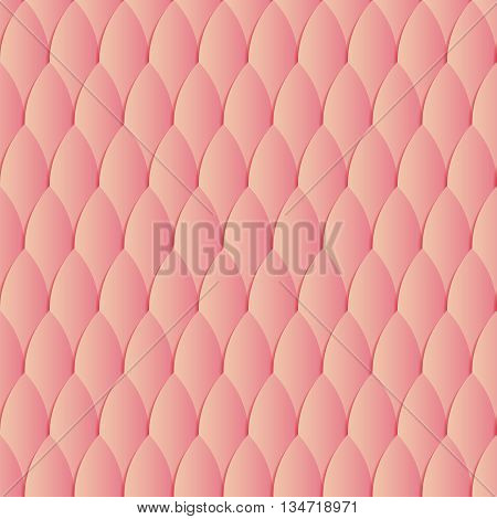 Seamless wallpaper with gradient scale. Abstract vector illustration. Yellow and pink seamless pattern with 3d effect, Stylized snake or lizard skin
