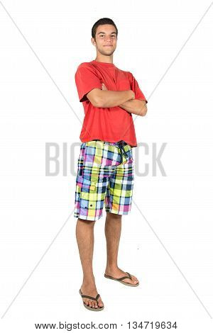 Teenager boy in summer clothes ready for fun